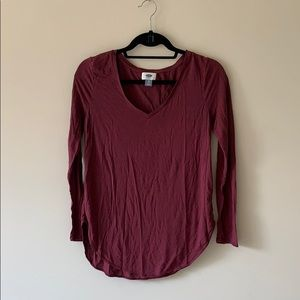 Old Navy Simply V Neck Long Sleeve Top